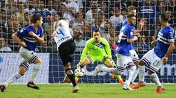 Karier Emil Audero semakin menanjak setelah dipinjamkan ke Sampdoria dan dipermanenkan pada Februari 2019. Sayangnya, pemain 23 tahun itu menolak tawaran PSSI untuk bergabung ke timnas Indonesia. (Foto: AFP/Alberto Pizzoli)