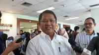 Menkominfo Rudiantara saat ditemui di Kampus Universitas Al-Azhar Indonesia, Jakarta, Rabu (21/3/2018). (Liputan6.com/ Agustin Setyo W)