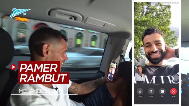 Berita Video Saat Mohamed Salah Pamer Rambut Baru ke Dejan Lovren