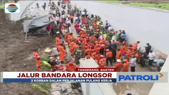 Satu korban longsor tebing terowongan kereta api Bandara Soekarno Hatta meninggal dunia.