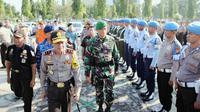 Kepolisian Daerah Riau mengerahkan 1399 personelnya untuk mengamankan arus mudik lebaran. Foto: (M Syukur/Liputan6.com)