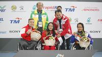 Cabang olahraga renang berhasil melampaui target yang dibebani di ASEAN Para Games 2017 setelah meraih 13 medali emas. (dok. APG Indonesia)