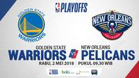 Playoff 2018 Golden State Warrios Vs New Orleans Pelicans_Game 2 (Bola.com/Adreanus Titus)