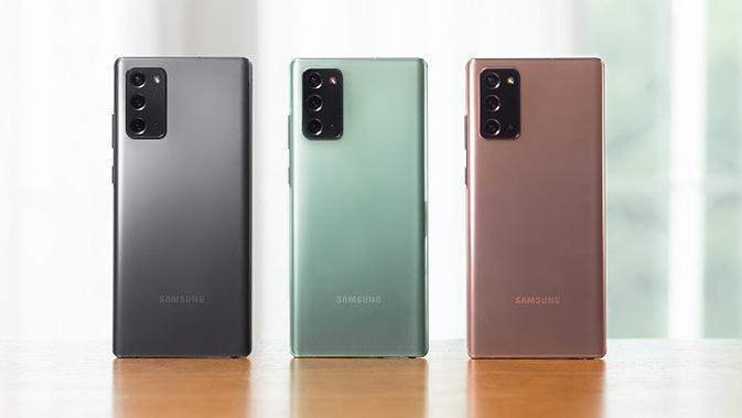 Tampilan Galaxy Note 20 yang baru saja dirilis. (Dok. Samsung)