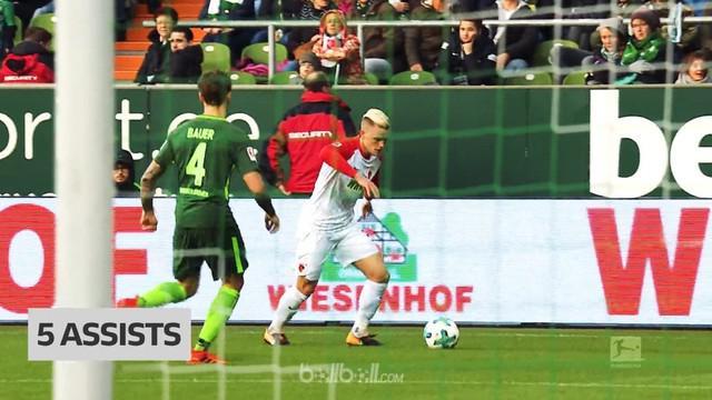 Berita video bek Augsburg, Philipp Max, sementara ini menjadi raja assist di Bundesliga 2017-2018. This video presented by BallBall.
