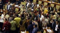 Suasana rapat paripurna DPR untuk pengesahan RUU Pemilu. (Liputan6.com/Johan Tallo)