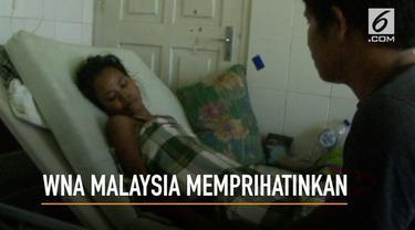 Seorang warga negara asing asal Malaysia, terkatung-katung setelah menderita sakit  gangguan rahim dan kantung kemih di Rumah Sakit Umum Daerah Palagimat.