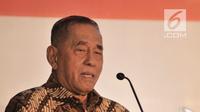 Menteri Pertahanan Ryamizard Ryacudu memberikan sambutan saat Silaturahmi dan Halalbihalal bersama Presidium Alumni 212 di Hotel Sangri-la, Jakarta, Kamis (27/6/2019). Acara ini bertujuan merajut kembali persatuan dan kesatuan serta menjaga kedamaian usai Pemilu 2019. (merdeka.com/Iqbal Nugroho)