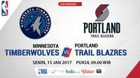 Jadwal NBA, Minnesota Timberwolves Vs Portland Trail Blazers. (Bola.com/Dody Iryawan)