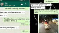 Chat ketahuan bohon (Sumber: Instagram/recehtapisayang/Twitter/flutulang)