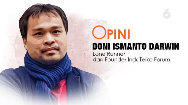 Doni Ismanto Darwin, Lone Runner dan Founder IndoTelko Forum. Dok: Triyasni