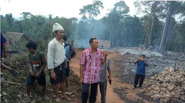 Perkampungan Suku Badui Terbakar, 40 Rumah Hangus
