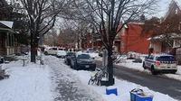 Polisi bersiaga di penembakan Ottawa. (AP)