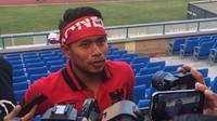 Andik Vermansah menyebut Selangor FA meminati pemain sayap Timnas Indonesia U-22 dan Persib Bandung, Febri Hariyadi. (Liputan6.com/Cakrayuri Nuralam)
