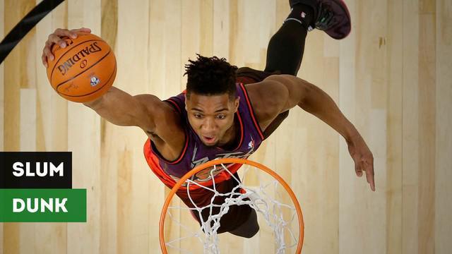 Berita video mengenai wawancara dengan pemegang juara kontes Slam Dunk NBA All-Stars 2018.