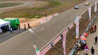 Skyland International Circuit Kabupaten Musi Banyuasin Sumsel yang menjadi lokasi Muba Asia Auto Gymkhana (Slalom) Cup 2019 (Liputan6.com / Nefri Inge)