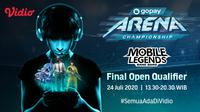 GoPay Arena Championship di Vidio. (Sumber: Vidio)