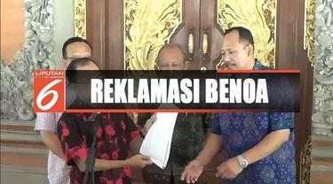 Pemprov Bali minta PT Pelindo III hentikan reklamasi di Pelabuhan Benoa.