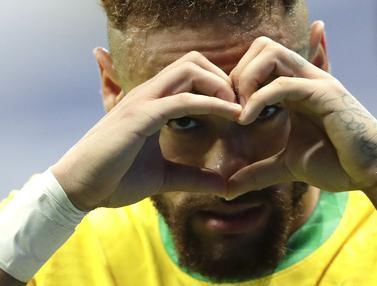 Foto Copa America: Sumbangkan Satu Gol, Neymar Bawa Brasil Menangkan Laga Perdana CONMEBOL Copa America 2021