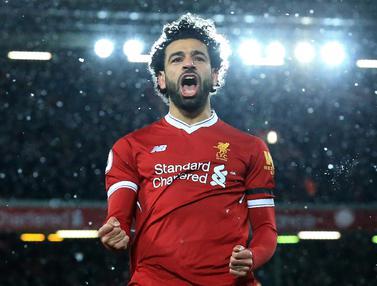 FOTO: Mohamed Salah Cetak 4 Gol, Liverpool Gulung Watford