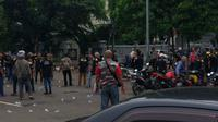 Bentrokan antarormas di Bekasi. (Istimewa)
