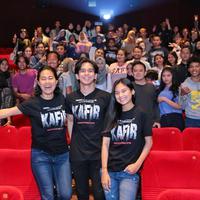 Nonton bareng film Kafir (Adrian Putra/bintang.com)