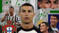 Ilustrasi Cristiano Ronaldo Portugal dan Juventus (Bola.com/Adreanus Titus)