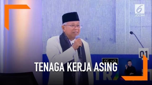 Ma'ruf Amin klaim angka tenaga asing di Indonesia paling rendah di seluruh dunia.