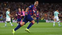 Luis Suarez mengantarkan Barcelona meraih kemenangan atas Inter Milan. (dok. UEFA)