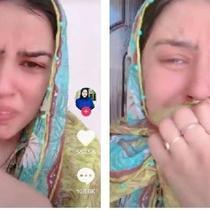 Seorang istri umumkan suaminya meninggal lewat TikTok. Sumber: TikTok/@adil_raajput