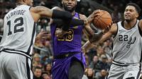 LeBron James tak berdaya saat Lakers melawan Spurs di lanjutan NBA (AP)