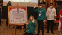Calon Wali Kota Tangerang Selatan (Tangsel) Benyamin Davnie (Liputan6/Pramita)
