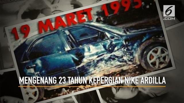 19 Maret 1995, Nike Ardila meninggal dunia. Tahun ini tepat 23 tahun kepergian Nike Ardila yang terus dikenang penggemarnya.