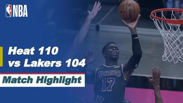 BeritaVjdeo Highlights NBA, La Lakers Telan Pil Pahit dari Miami Heat 110-104 (9/4/2021)