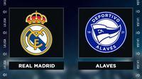 Liga Spanyol: Real Madrid Vs Deportivo Alaves. (Bola.com/Dody Iryawan)