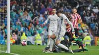Gawang Bilbao kala dibobol striker Real Madrid, Alvaro Morata (Foto: Real Madrid)