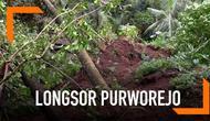 Sebuah rumah hilang tertimbun material longsor di Purworejo.