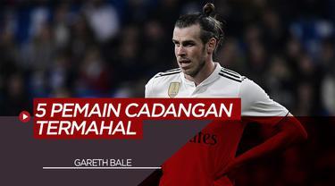 Berita Motion Grafis 5 Pemain Cadangan Termahal di Eropa Termasuk Pemain Real Madrid, Gareth Bale