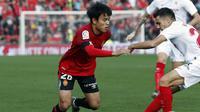 1. Takefusa Kubo (RCD Mallorca): Talenta muda asal Jepang ini merupakan pemain milik Real Madrid yang saat ini dipinjamkan ke RCD Mallorca. (Foto/La Liga)