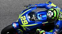 Pembalap Suzuki, Andrea Iannone (AFP/Vincenzo Pinto)