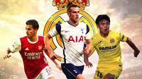 Real Madrid - Dani Ceballos, Gareth Bale, Takefusa Kubo (Bola.com/Adreanus Titus)