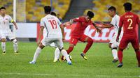 Timnas Indonesia U-16 di Piala AFC U-16 melawan Vietnam. (AFC)