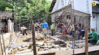 Kementerian Pekerjaan Umum dan Perumahan Rakyat (PUPR) terus menggulirkan bantuan program Bantuan Stimulan Perumahan Swadaya (BSPS) atau dikenal dengan bedah rumah.Dok PUPR