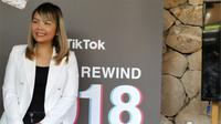 Belle Baldoza, Global Communication Director Tik Tok, di Jakarta, Senin (17/12/2018). Liputan6.com/ Andina Librianty