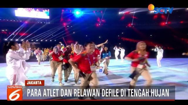 Upacara penutupan digelar di Stadion Utama GBK Senayan, Jakarta, dengan menampilkan sejumlah artis papan atas, baik dari Indonesia maupun mancanegara.