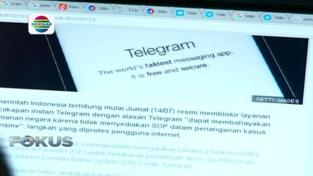 Polri mendukung Kementerian Komunikasi dan Informatika (Keminfo) memblokir Telegram.