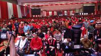 Sejumlah menteri kabinet kerja, tokoh partai politik pendukung Jokowi-Ma'ruf, hingga tokoh nasional hadir.