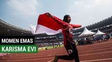 Berita video atlet para atletik Indonesia, Karisma Evi Tiarani meraih medali emas pada nomor lari 100 meter putri T42/T63, di Stadion Utama Gelora Bung Karno, Jakarta, Rabu (10/10/2018).