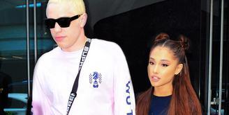 Pete Davidson dan Ariana Grande beberapa waktu terakhir mengumumkan bahwa mereka akan rehat dari sosial media. (PC/MEGA - USWeekly)