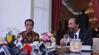 Jokowi mengundang Ketua Umum Partai Nasdem Surya Paloh sarapan di Istana (Setpres/Biro Pers)